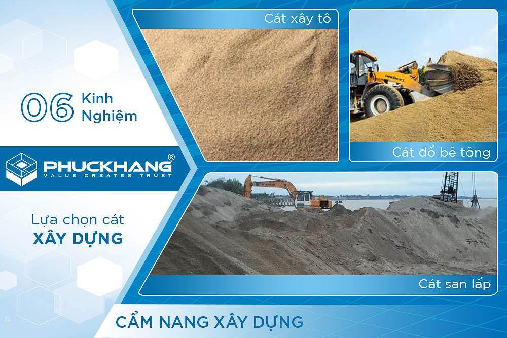 cách lựa chọn cát xây dựng