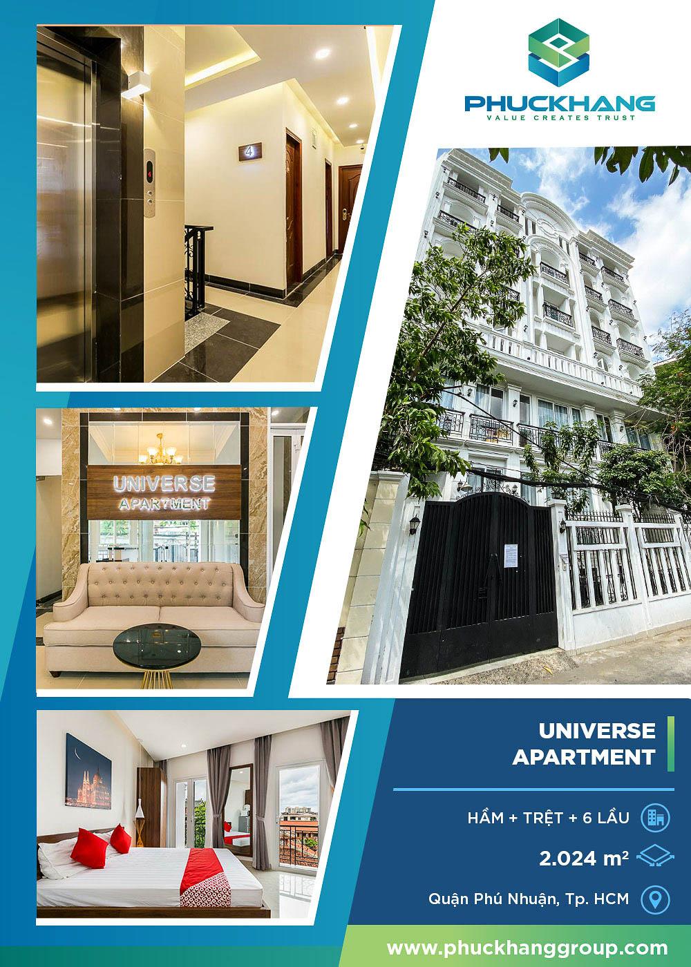 universe apartment xây nhà trọn gói