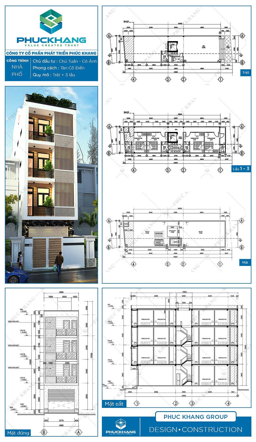 nhà phố (5x20)m 5 tầng