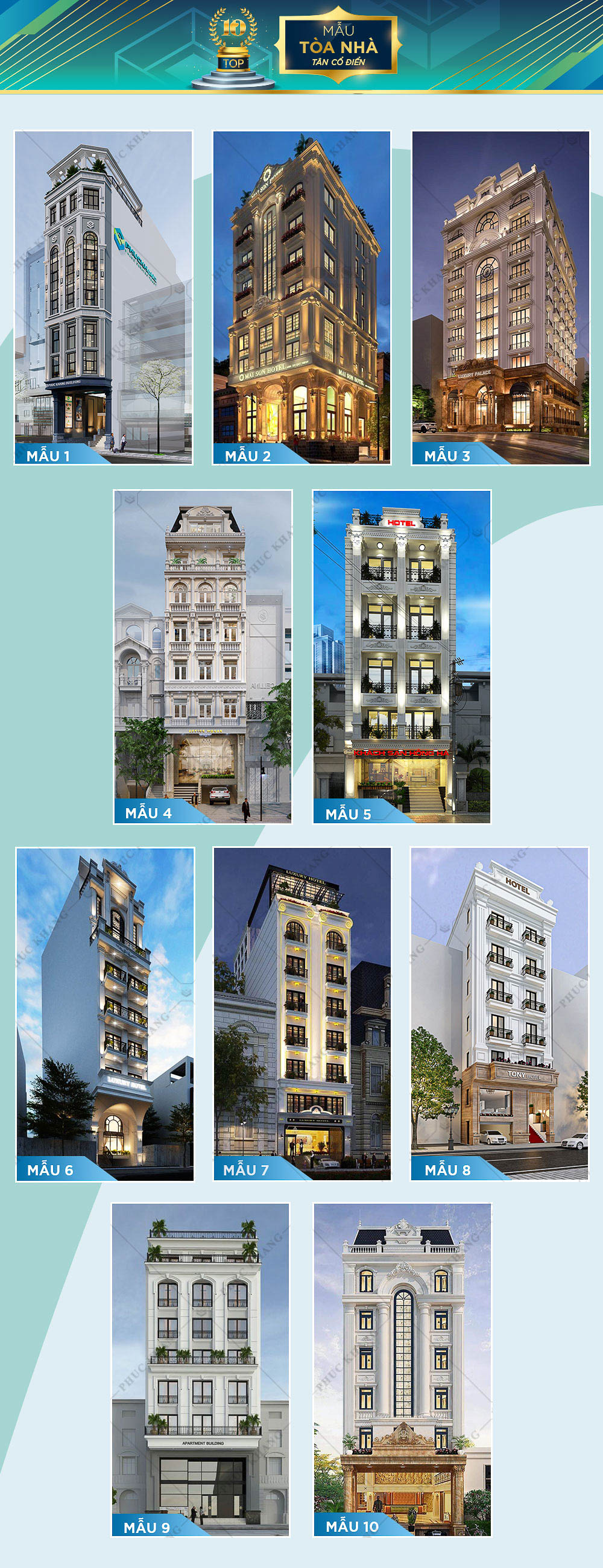 mẫu tòa nhà phong cách tân cổ điển đẹp