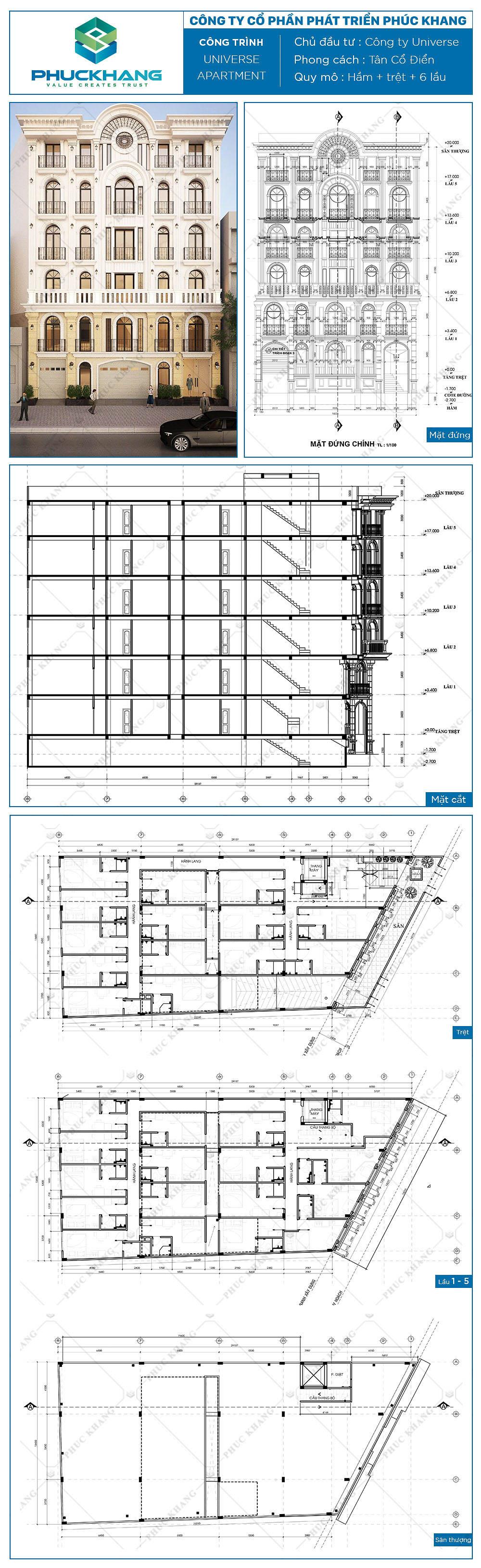 tòa nhà universe apartment (14x30)m 8 tầng