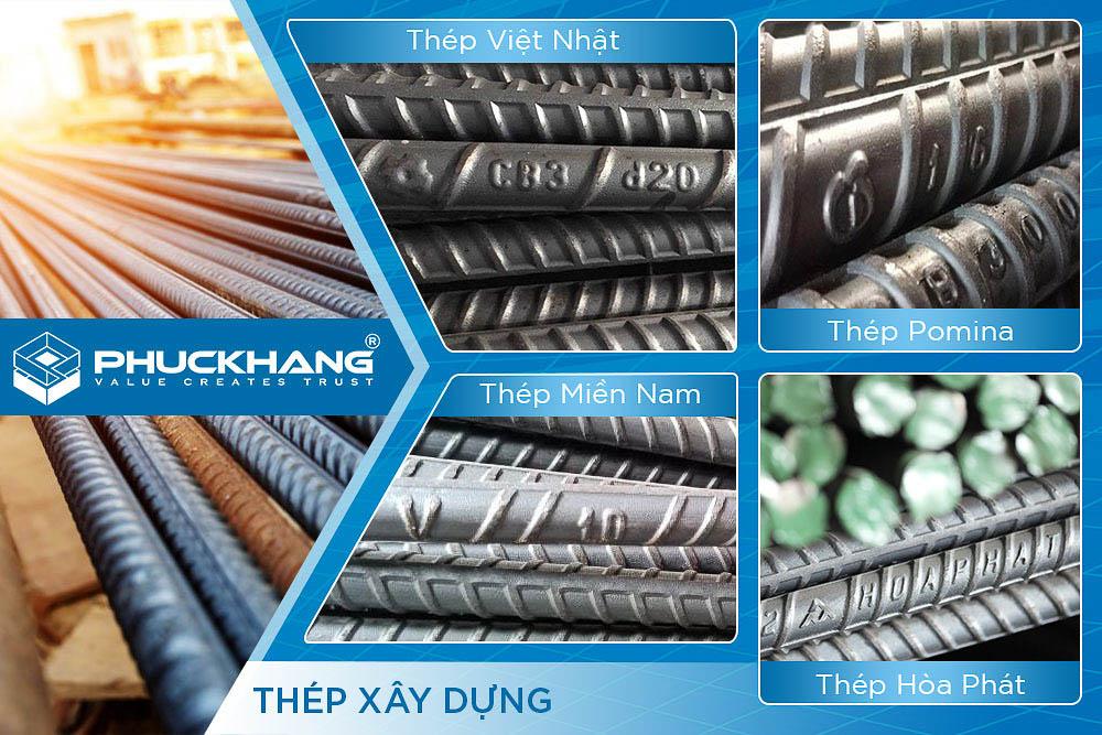 4 hãng thép trong vật liệu xây dựng