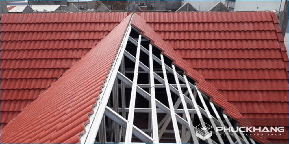 cách lợp mái ngói khung kèo thép