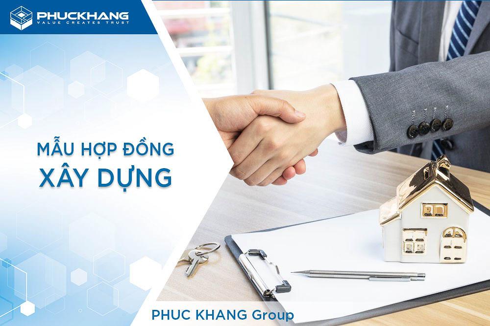 mẫu hợp đồng xây dựng nhà ở của phuc khang group