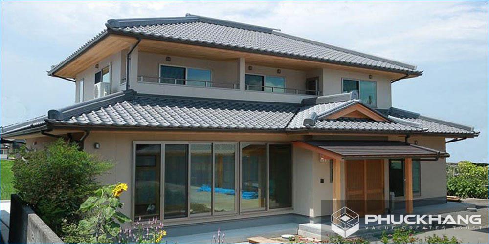 mẫu nhà mái ngói nhật bản