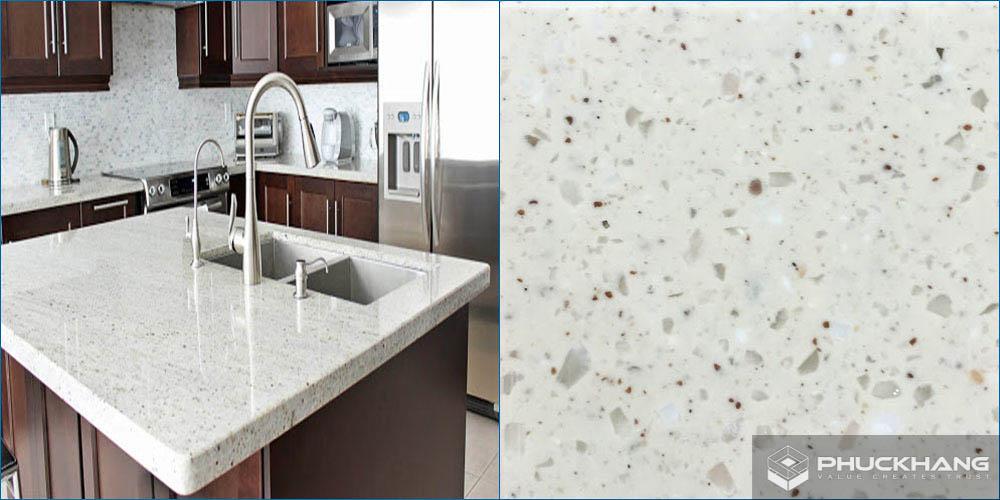 đá granite trắng kim sa
