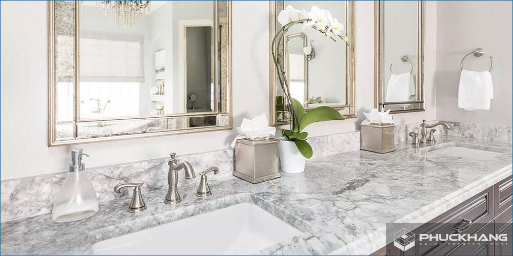 đá granite ốp lavabo