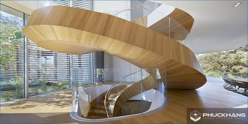 kích thước chuẩn của cầu thang xoắn ốc