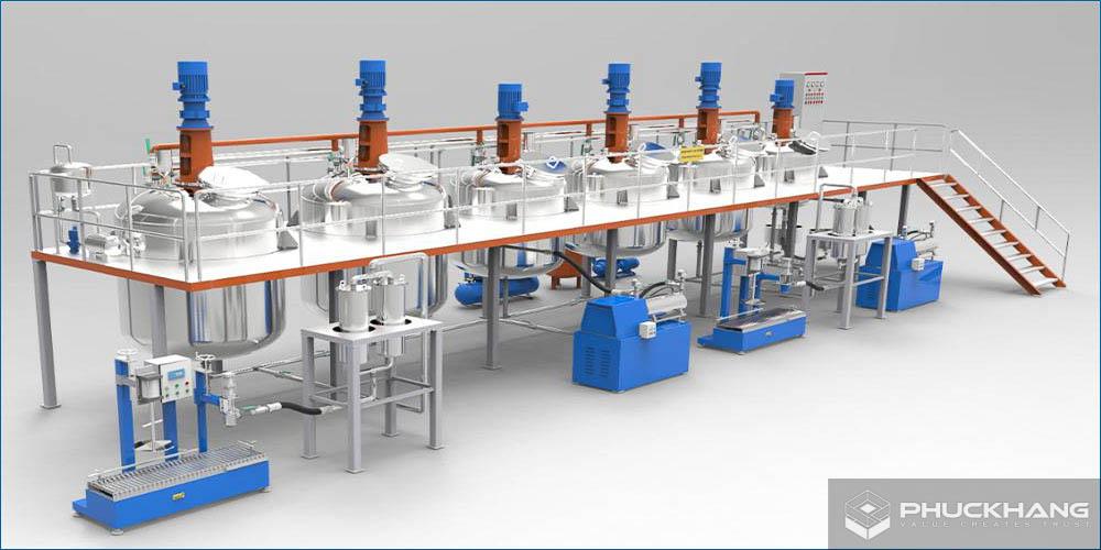 quy trình sản xuất sơn nước