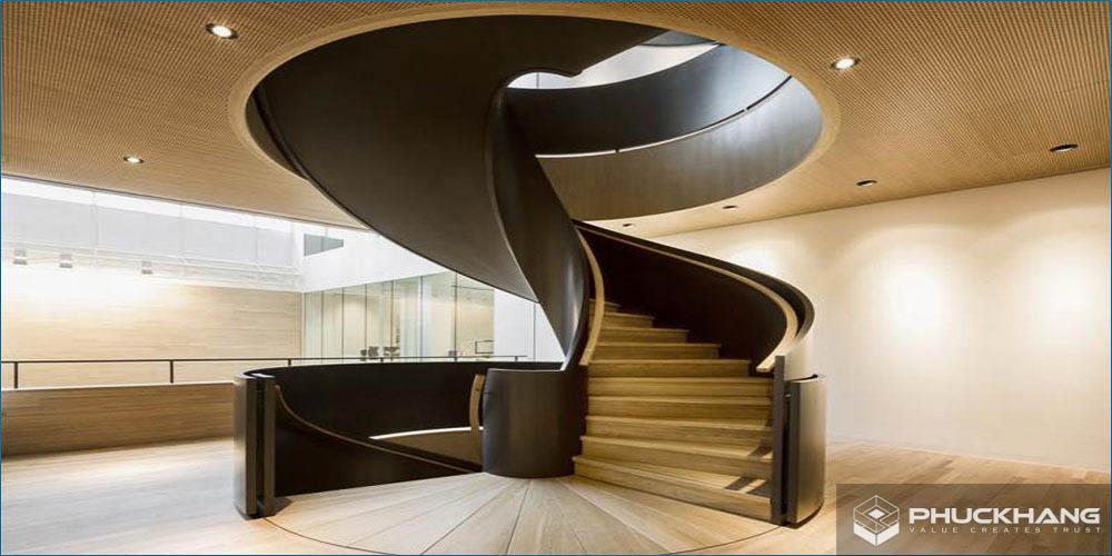 ưu và nhược điểm của cầu thang xoắn ốc