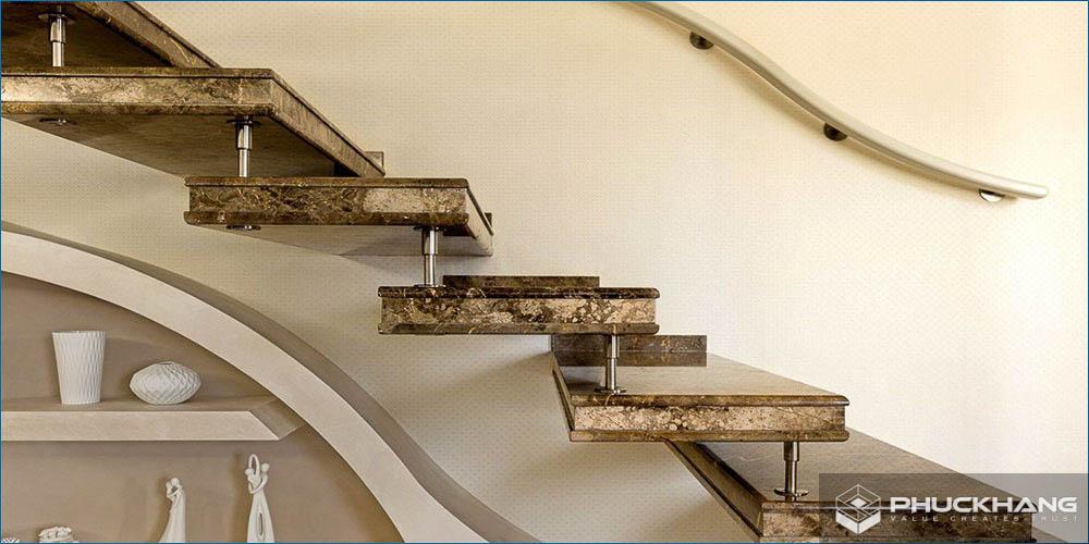 cách lựa chọn đá ốp cầu thang