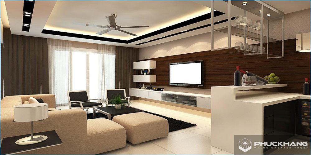 lưu ý khi thiết kế trần thạch cao phòng khách đẹp