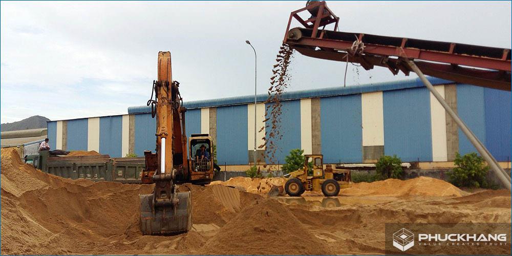 công dụng của cát xây dựng